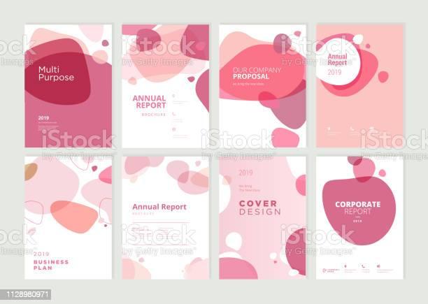 Set Von Broschüre Geschäftsbericht Und Cover Designvorlagen Für Beauty Spa Wellness Naturprodukte Kosmetik Mode Gesundheitswesen Stock Vektor Art und mehr Bilder von Abstrakt