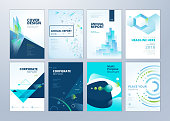Vector illustrations for business presentation, business paper, corporate document cover and layout template designs.