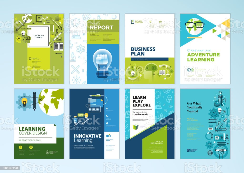 set of brochure design templates on the subject of