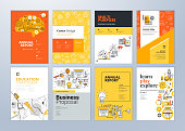 Vector illustrations for flyer layout, marketing material, annual report cover, presentation template.