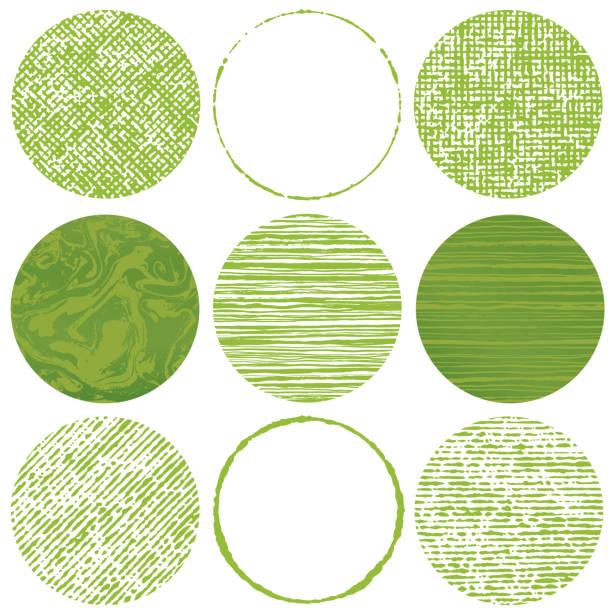 ブラシストローク円のセット。緑茶のイメージ。 - 抹茶点のイラスト素材/クリップアート素材/マンガ素材/アイコン素材