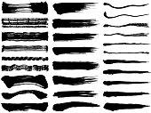 Set of brush stroke illustrations.