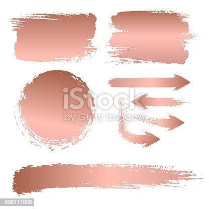 Vector collection, brush strokes, background of a billboard, gold