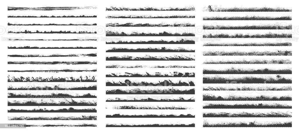 Set of brushes vector art illustration
