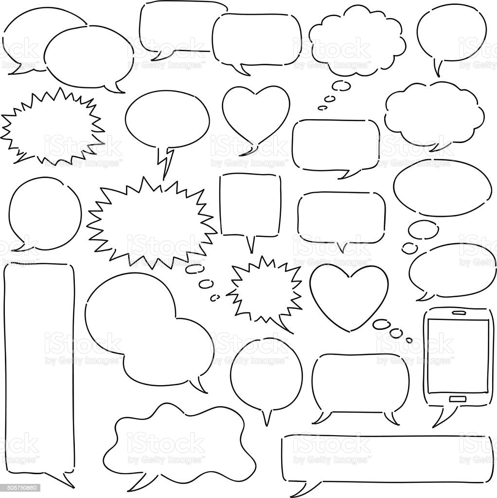 Conjunto de bolhas - ilustração de arte em vetor