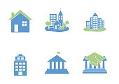 set of Buildings icons  - vector illustration
