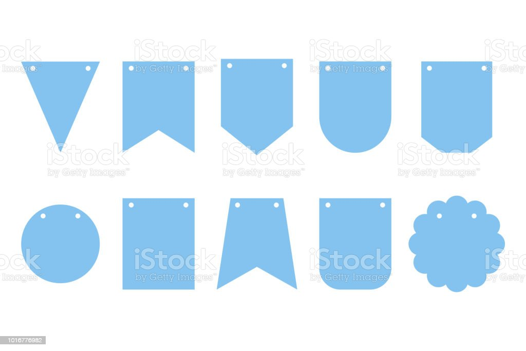 Set Of Bunting Banners Frames For Party Happy Birthday Decorations ...