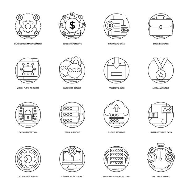 Royalty Free Unstructured Data Clip Art, Vector Images