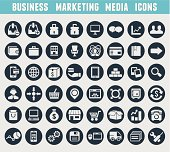 Set of business and marketing icons