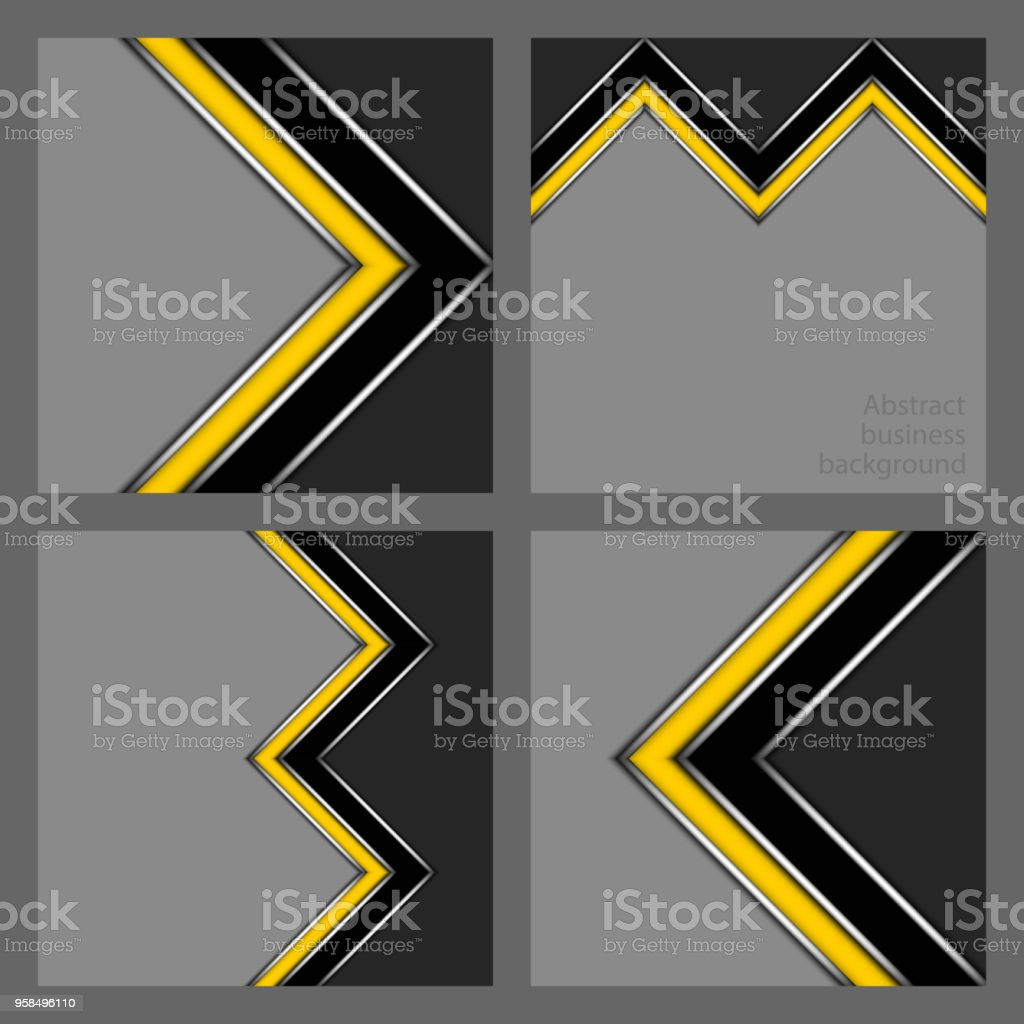 Set of business backgrounds vector art illustration