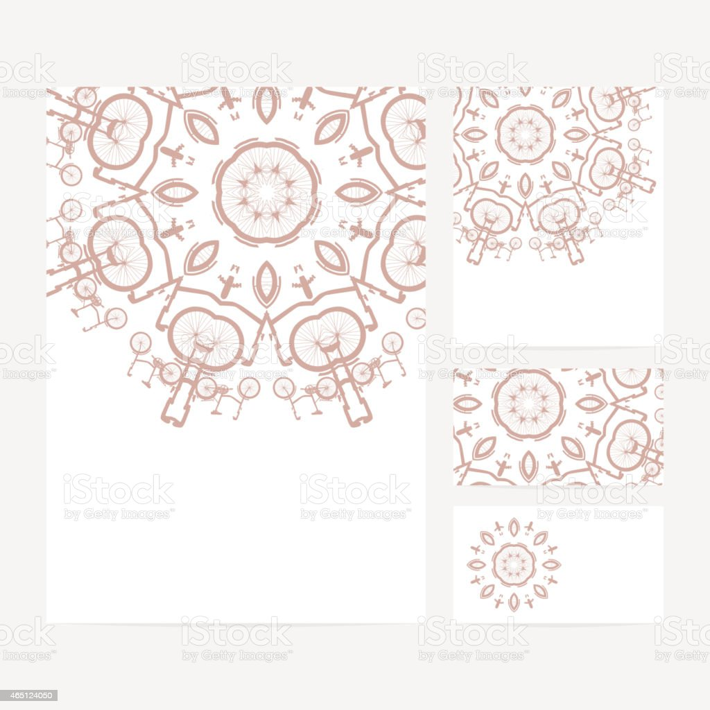 Set Of Business Card And Invitation Card Templates Stock