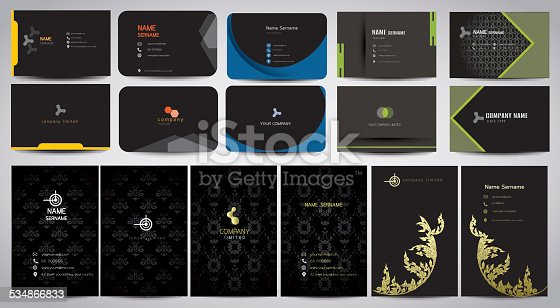 Set of business card templates.vector illustration