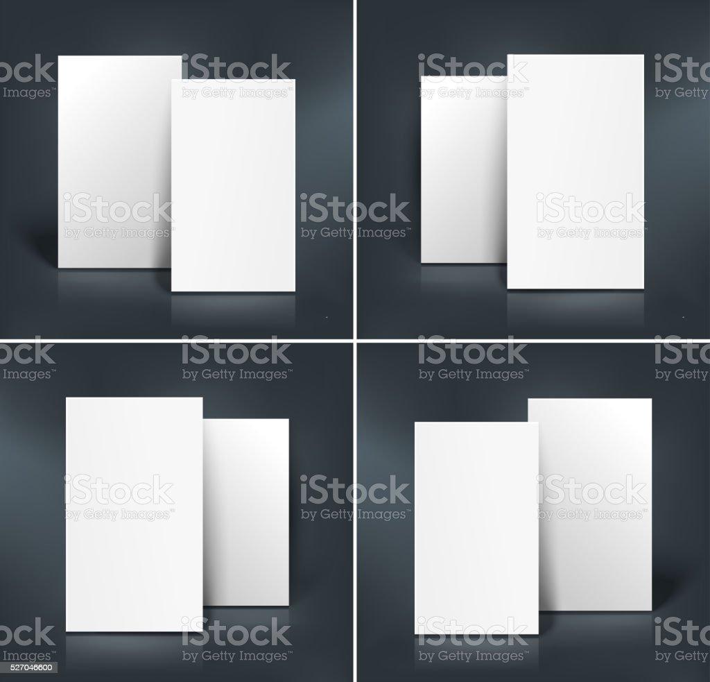 Ein Satz Von Visitenkarten Mockup Vektorillustration Stock Vektor Art Und Mehr Bilder Von Brief Dokument