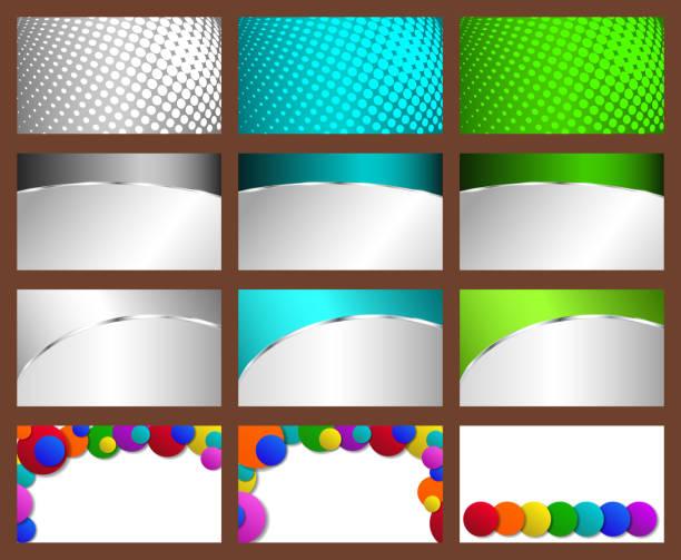 blue credit card on gradient background illustrations