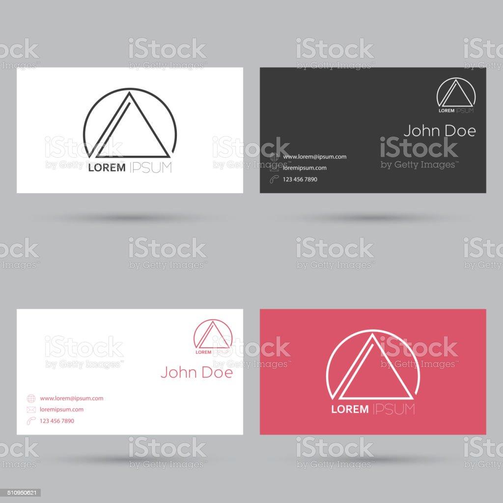 Set of business cards vector art illustration