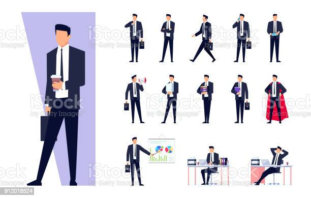 白い背景に分離されたビジネス文字のセット - アイコンのベクターアート素材や画像を多数ご用意