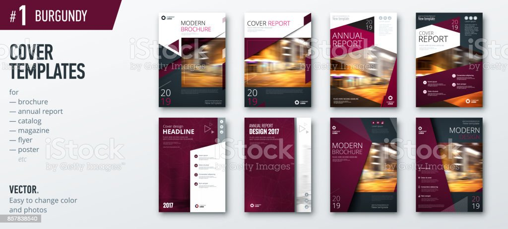set of business cover design template for brochure report catalog