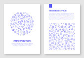 Set of Business Ethics Icons Vector Pattern Design for Brochure,Annual Report,Book Cover.
