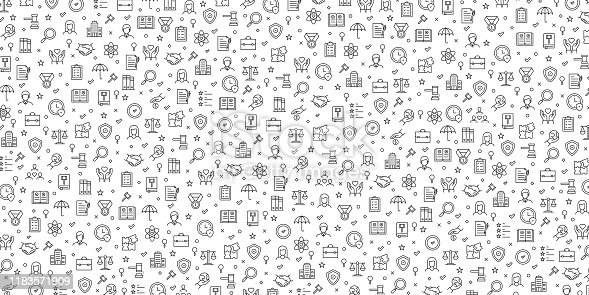 Set of Business Ethics Icons Vector Pattern Design