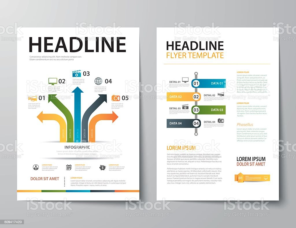 set of business magazine cover , flyer, brochure flat design tem vector art illustration