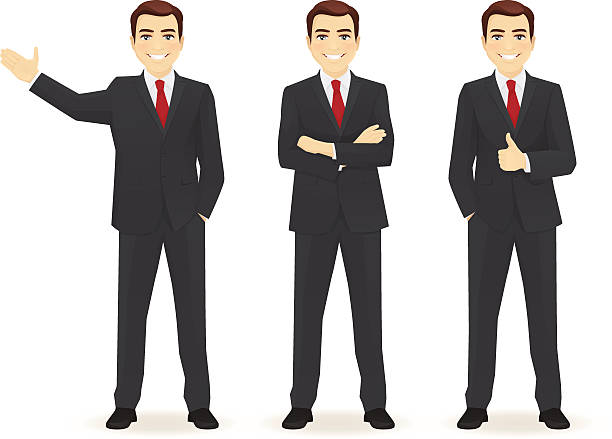 set of business man - businessman stock illustrations, clip art, cartoons, & icons