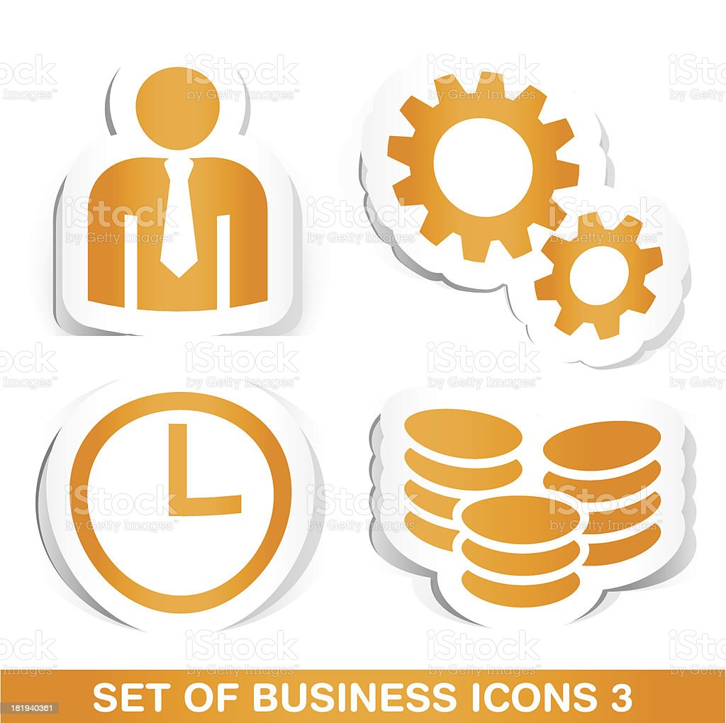 Set of Business Paper Icons 3. royalty-free set of business paper icons 3 stock vector art & more images of adult