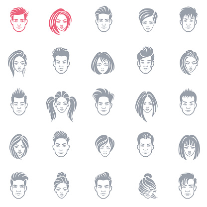 Set of business people avatar icons