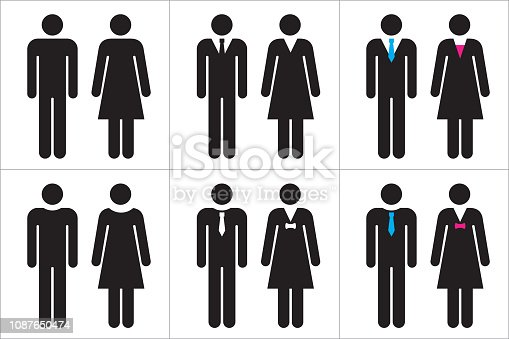 Vector illustration of people icons.
