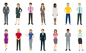 Set of business people. Created with adobe illustrator.