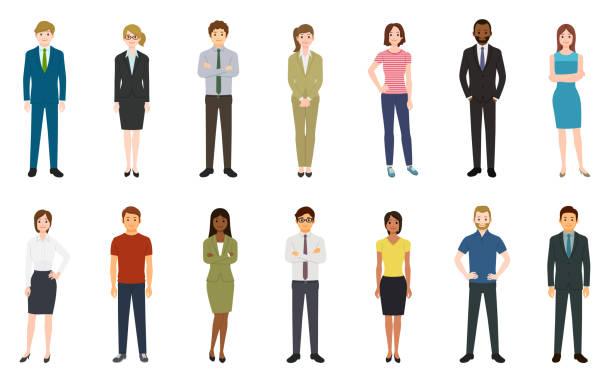 Set von Geschäftsleuten – Vektorgrafik