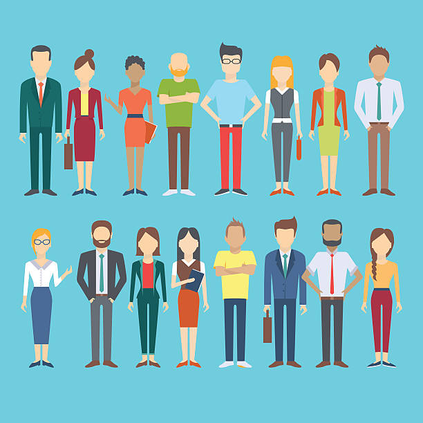 set of business people - professional women stock illustrations, clip art, cartoons, & icons