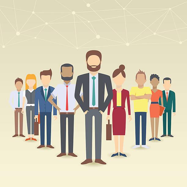 satz von business personen - new work stock-grafiken, -clipart, -cartoons und -symbole