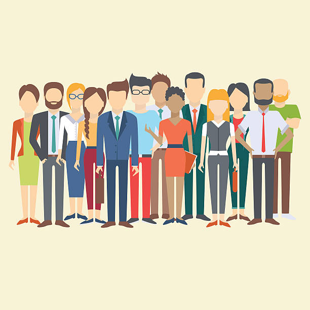 stockillustraties, clipart, cartoons en iconen met set of business people - jong volwassen