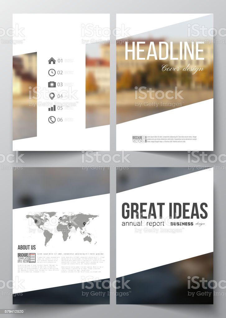 Set of business templates for brochure, magazine, flyer, booklet or vector art illustration