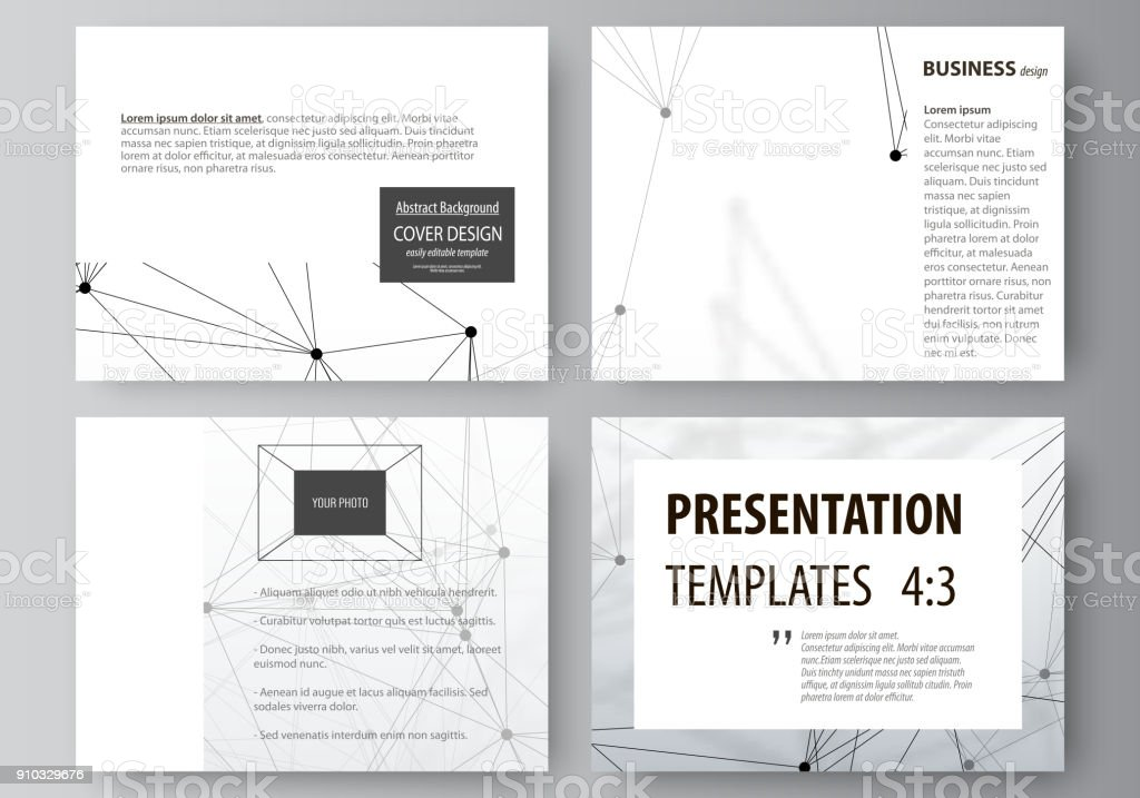 Set of business templates for presentation slides easy editable set of business templates for presentation slides easy editable abstract vector layouts in flat design ccuart Image collections