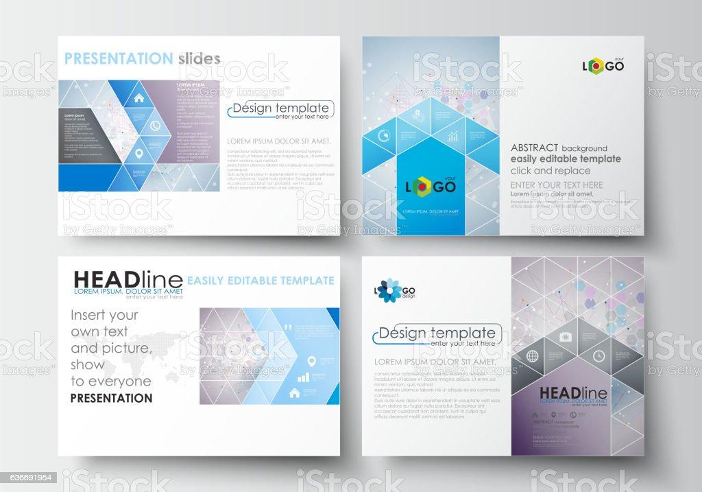 Set of business templates for presentation slides. Easy editable abstract vector art illustration