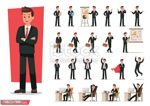 Set of Businessman character design.