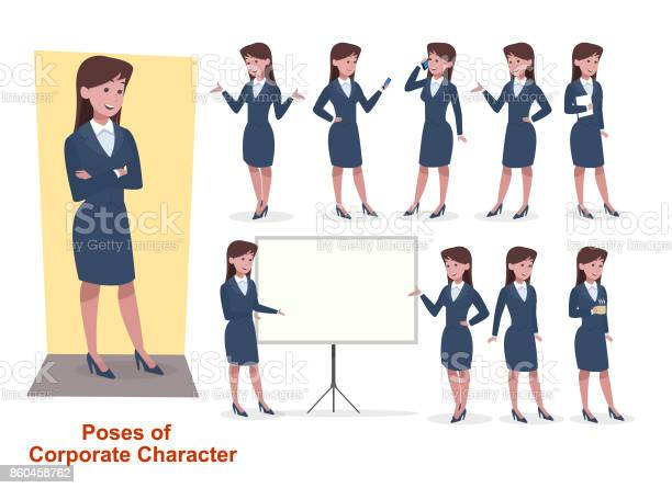 Set of businesswoman character in office working model vector id860458762?b=1&k=6&m=860458762&s=612x612&h=22b6pot7 ndesvnhnccieyf lvymk0qj1yotesf1lk0=