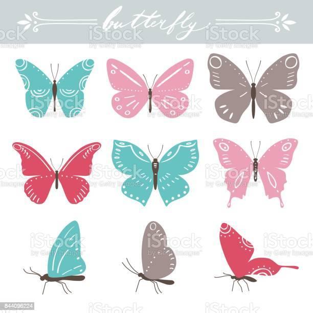 Set of butterflies on white background hand lettering vector vector id844096224?b=1&k=6&m=844096224&s=612x612&h=dlfnn1glg4utiy1mjspz90z9oxnqmo5rphsgndcft5e=