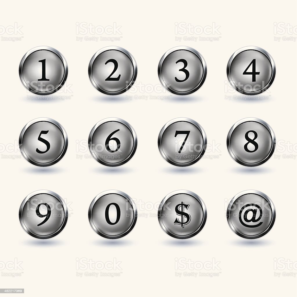 set of button with number royalty-free set of button with number stock vector art & more images of circle