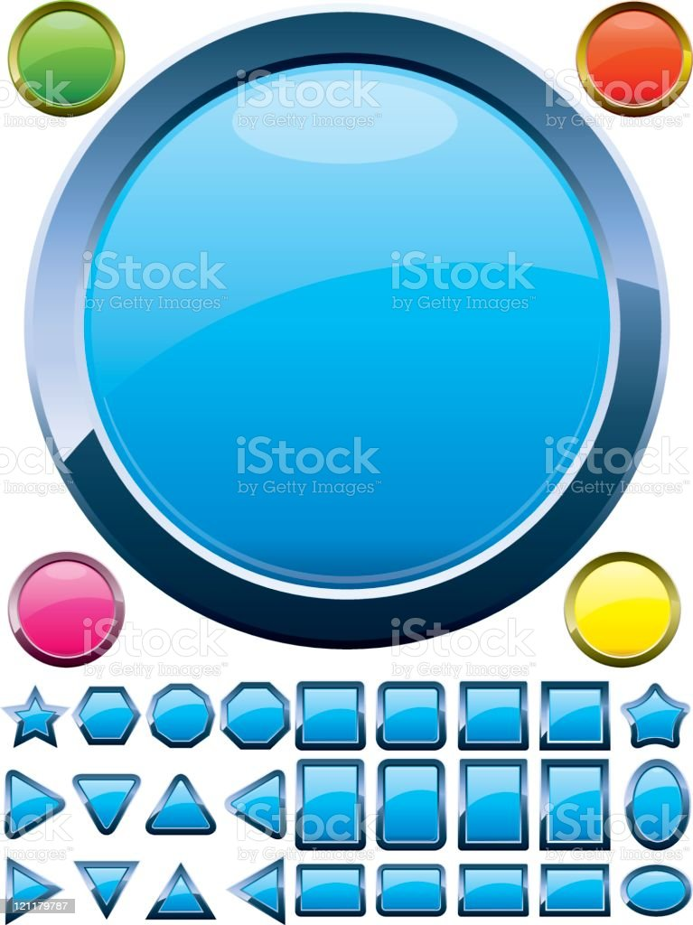 Set of buttons royalty-free stock vector art