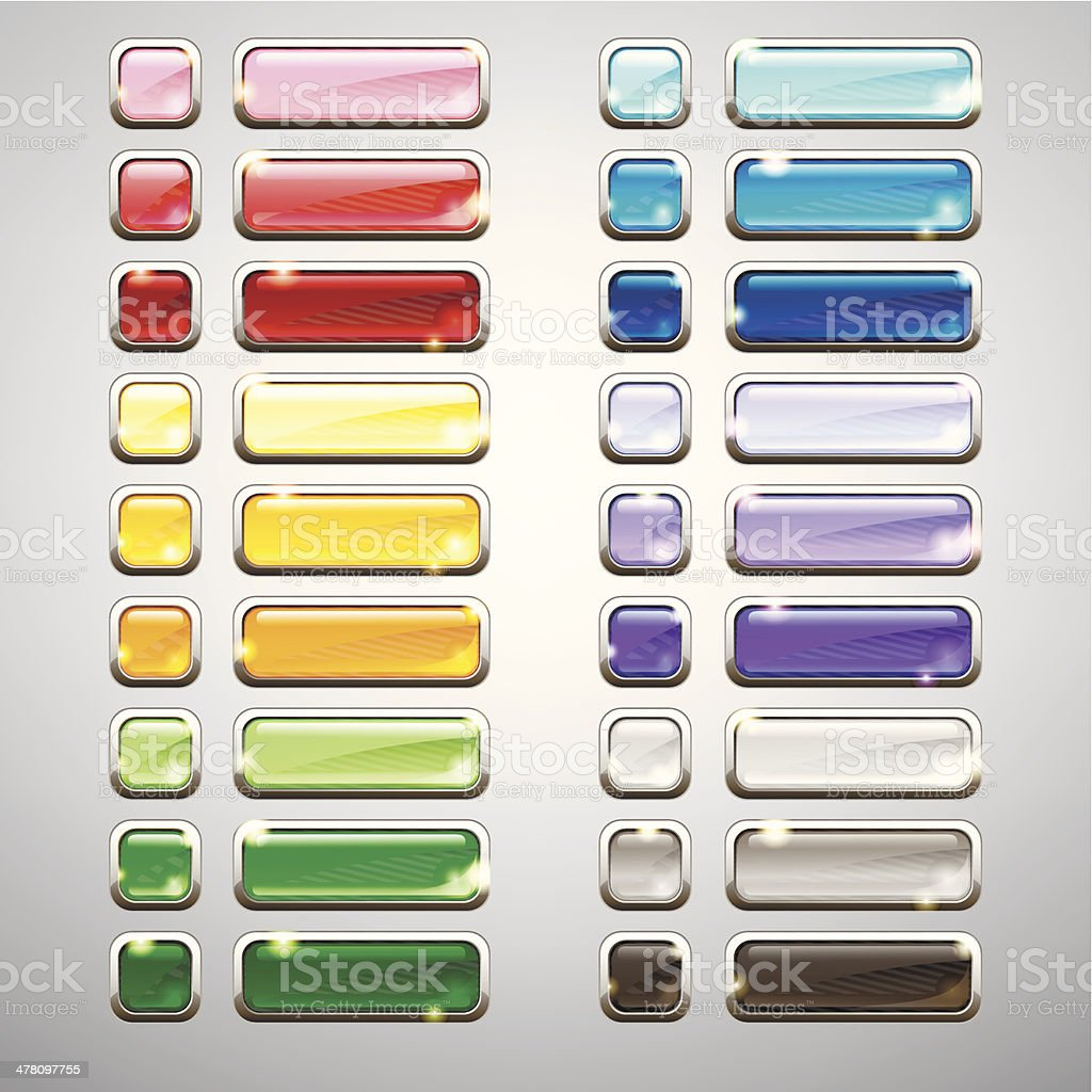 Set of buttons. royalty-free stock vector art