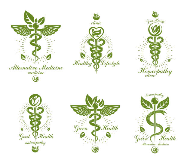 Royalty Free Medical Symbols Emblems And Signs Collection Clip Art