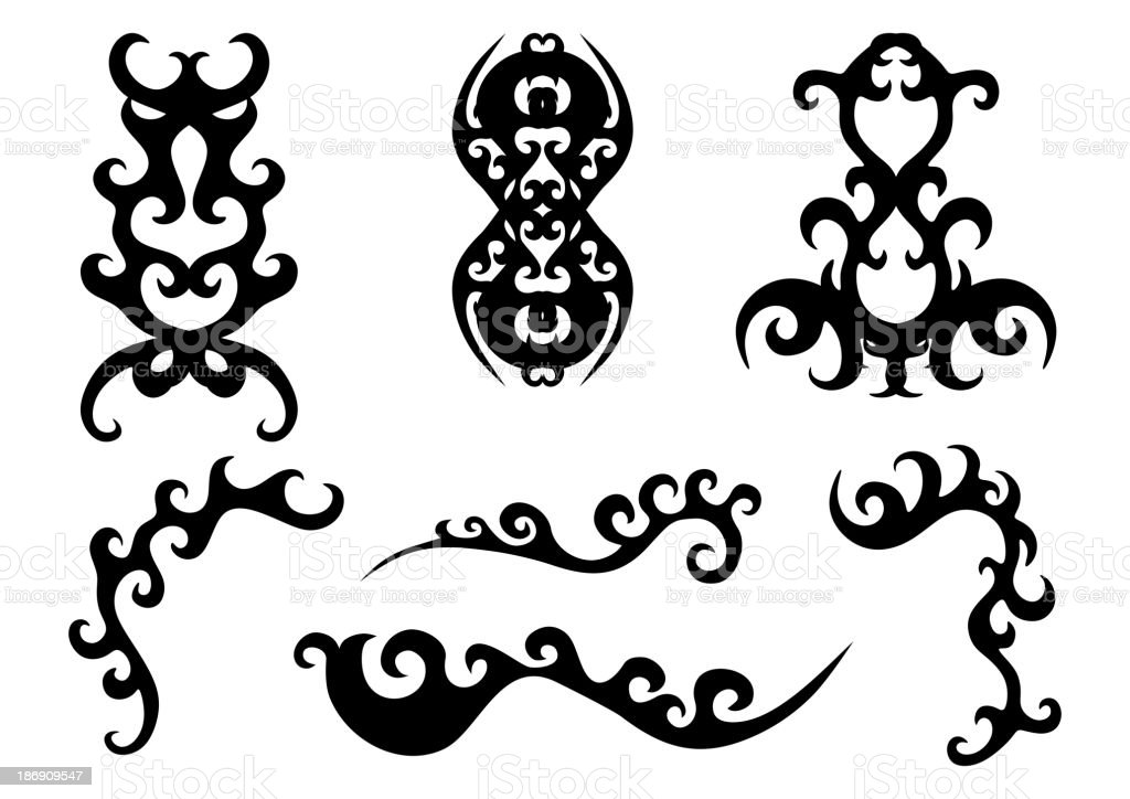 Set of calligraphic elements. royalty-free stock vector art