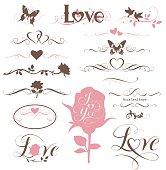 Decorative love set