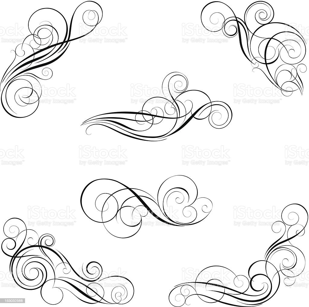 Set Of Calligraphy Design Royalty Free Stock Vector Art Amp