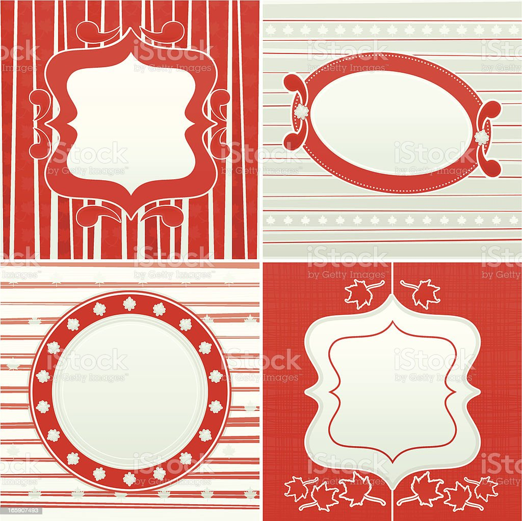 Set of Canadian Frames royalty-free stock vector art