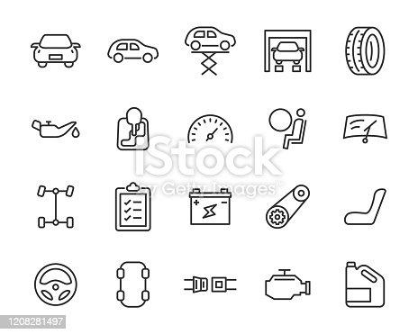 istock set of car part icons, car care service, repair 1208281497