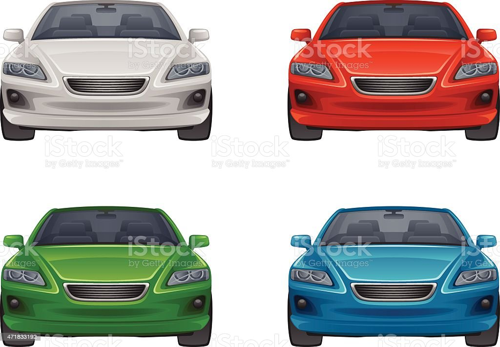Set of car vector art illustration