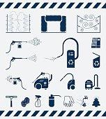 Set of car washing icons